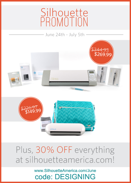 Sillhouette june promo 2014 SimplyDesigning Washi Tape Gift Bag + Silhouette Sales 5