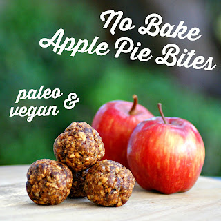 Healthy Apple Pie Raw Balls Recipe - raw bites, vegan, paleo, grain free, gluten free, sugar free, healthy snack, clean eating recipe, energy bites recipe