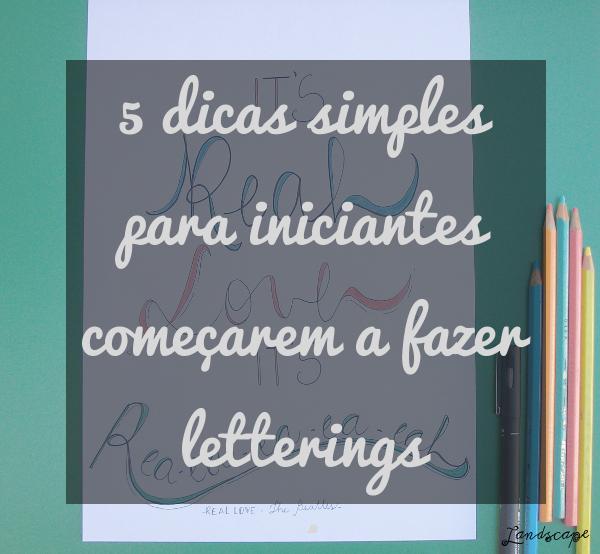Como fazer letterings