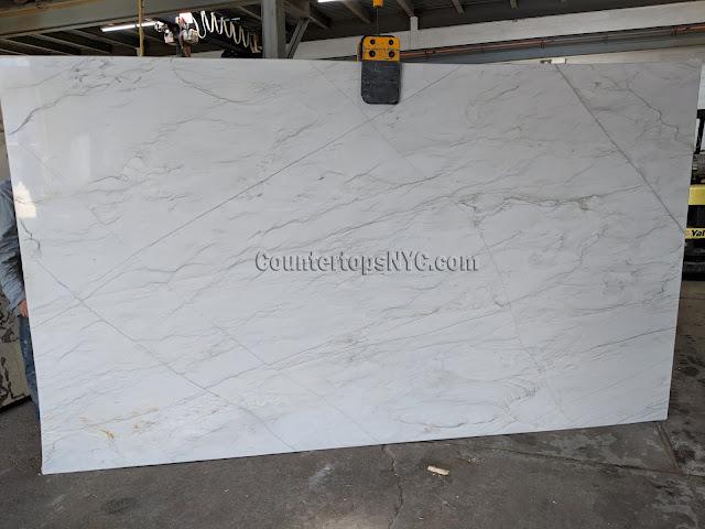 Calacatta quartzite slabs for kitchen countertop NYC