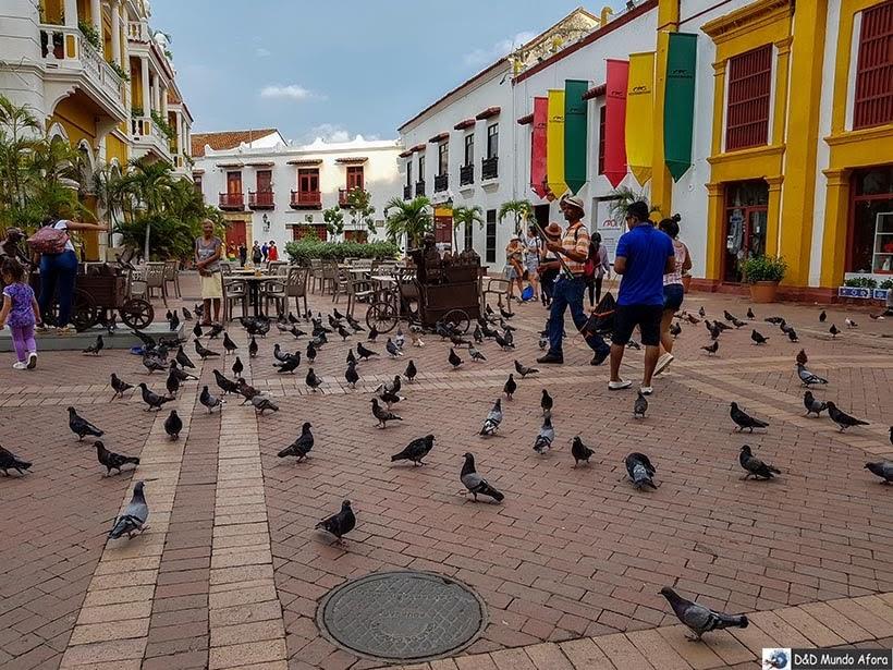 Plaza San Pedro Clever - Diário de bordo: 4 dias em Cartagena, Colômbia