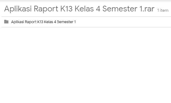 Aplikasi Raport Kurikulum 2013 Kelas 4 Terbaru 2018
