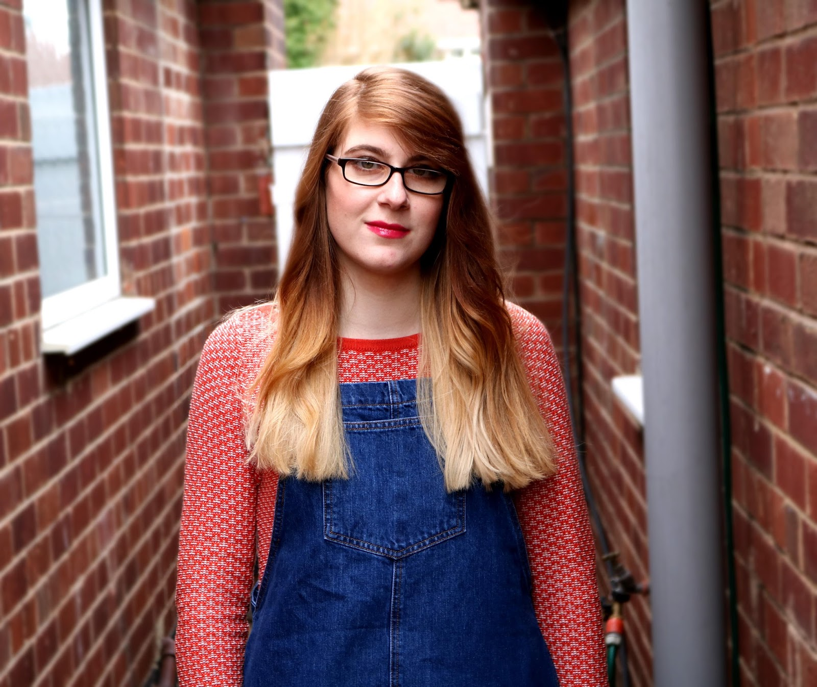 OOTD Blue Denim Pinafore Dress