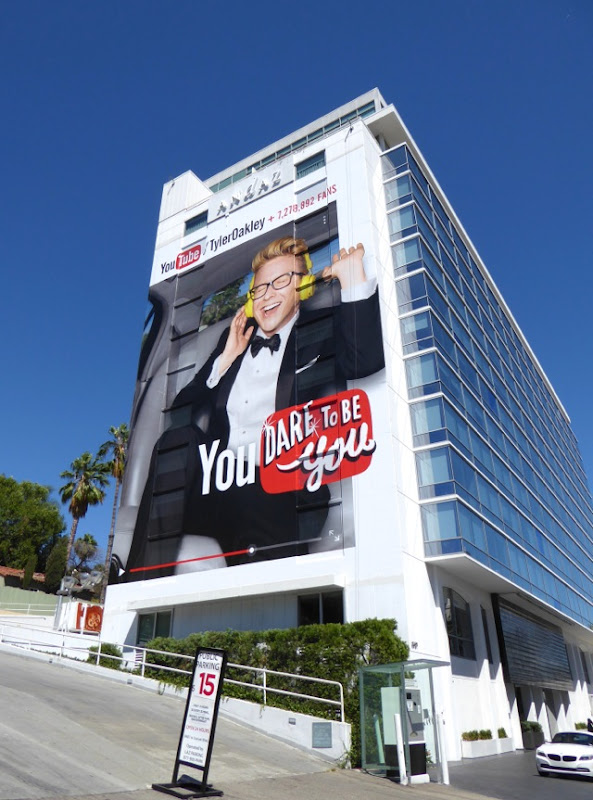 Giant YouTube Tyler Oakley billboard