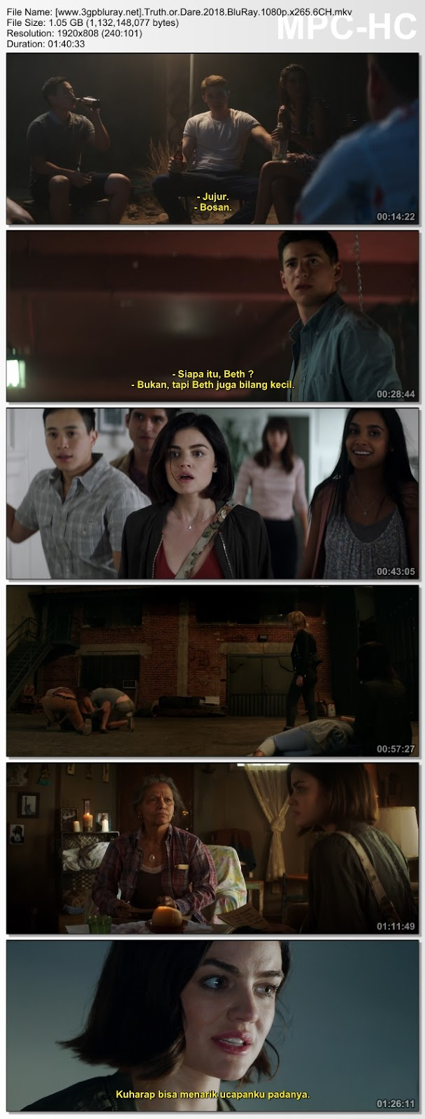 Screenshots Download Film Gratis Hardsub Indo Blumhouse's Truth or Dare (2018) BluRay 480p MP4 Subtitle Bahasa Indonesia 3GP