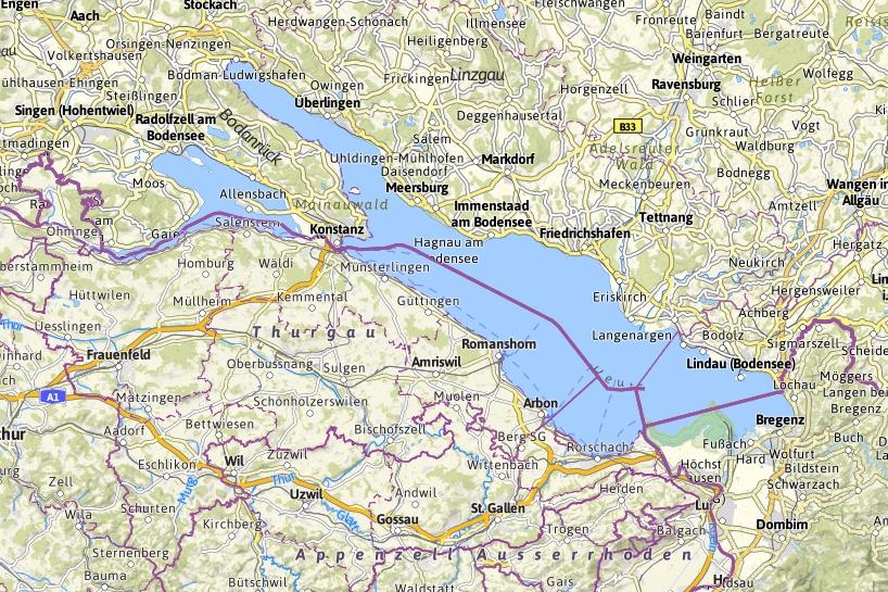Bn fsd bodensee mit diversen rettungseins tzen for Bodensee karte