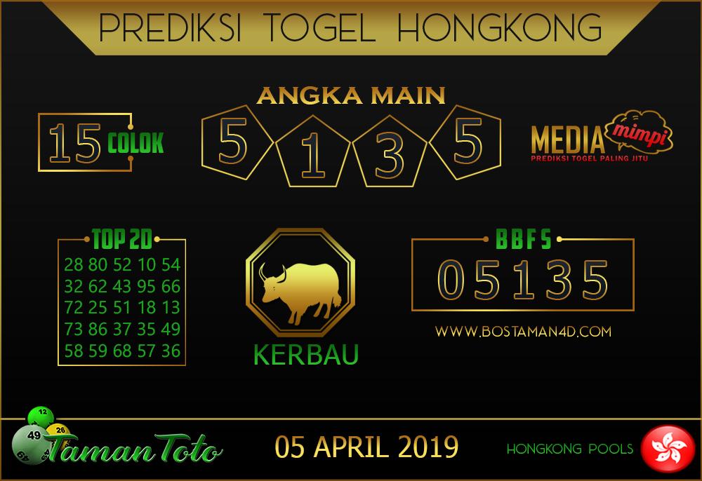 Prediksi Togel HONGKONG TAMAN TOTO 05 APRIL 2019
