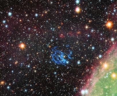 Una estrella muerta rodeada de luz