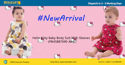 Hello Kitty Baby Body Suit With Sleeves