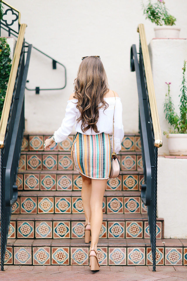 love this striped skirt!