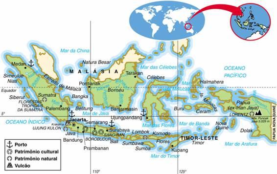 INDONÉSIA, ASPECTOS GEOGRÁFICOS E SOCIOECONÔMICOS DA INDONÉSIA