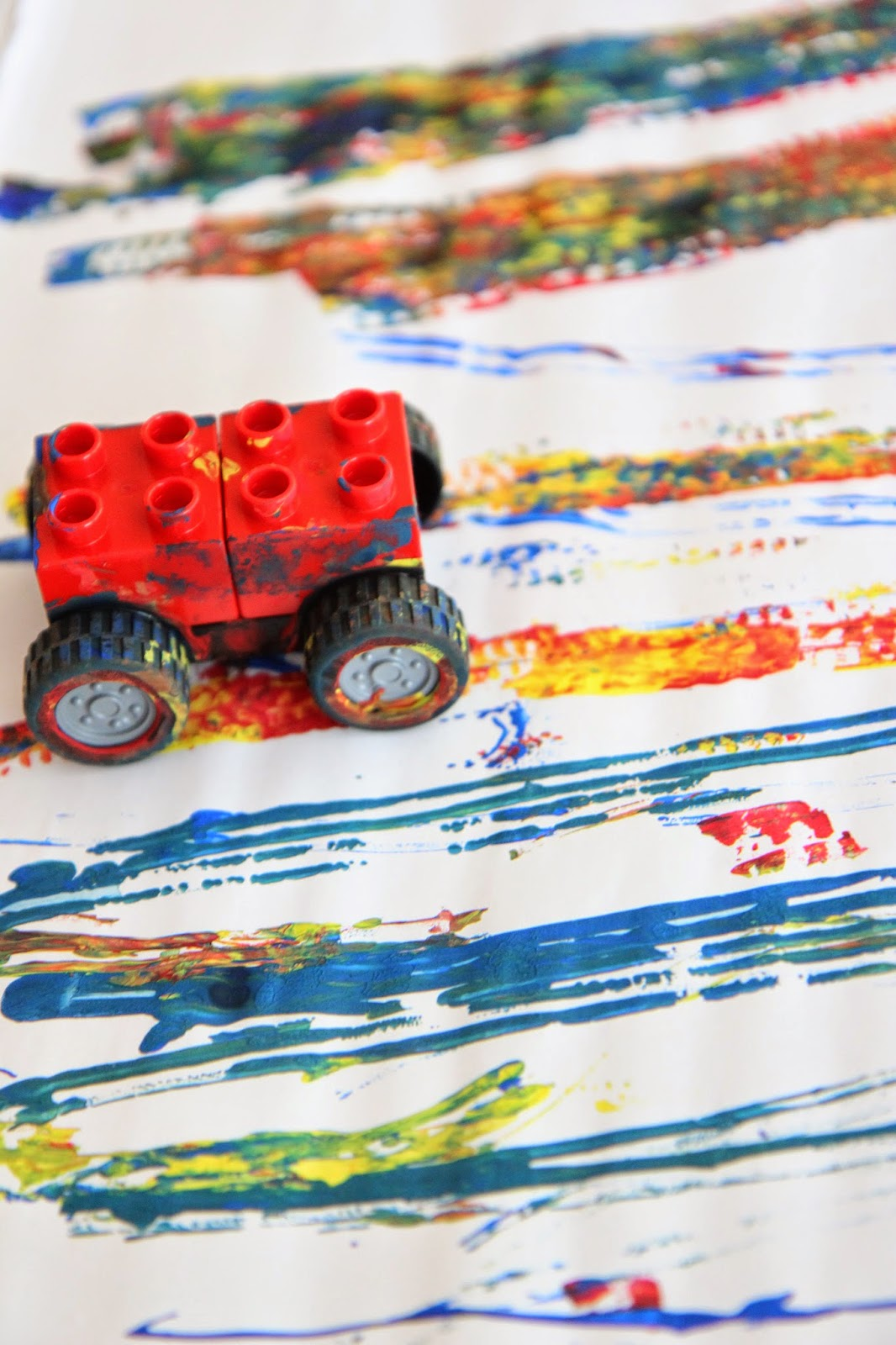 Toddler Approved!: LEGO Car Ramp Painting