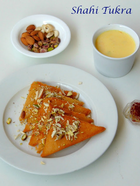 Royal Bread Pudding,Shahi Tukda,Shahi Tukra