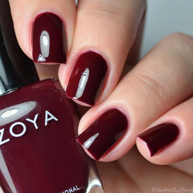 deep red creme nail polish