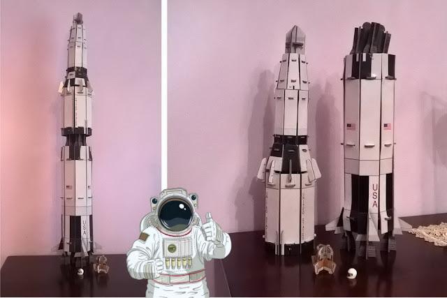 bambini spiegare razzi, stazioni spaziali e satelliti