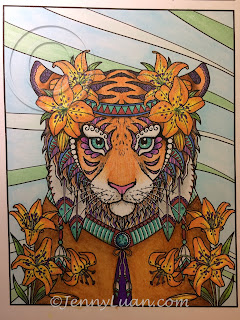 Animal Doodle Tiger Lily from Big Cat bundle by JennyLuanArt