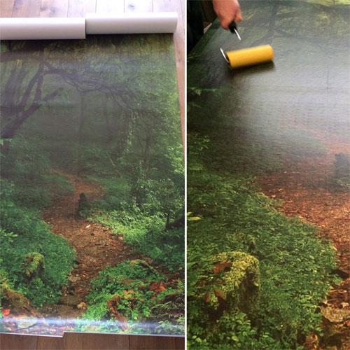 2 banen regenwoudbehang