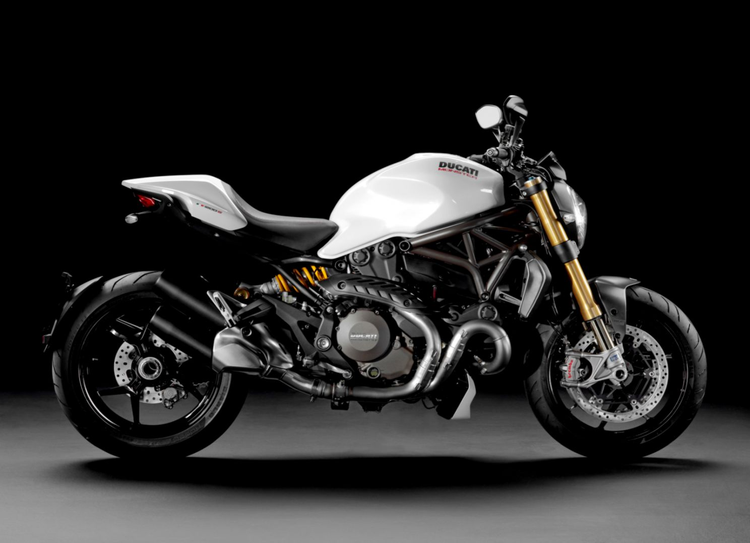2014 Ducati Monster 1200 S note the Yspoke rear wheel and gold