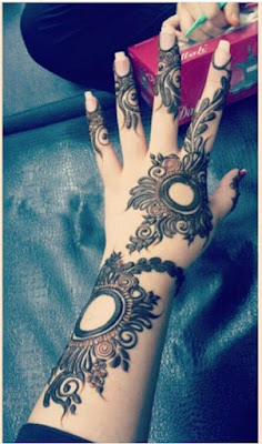 simple mehendi designs for left hand