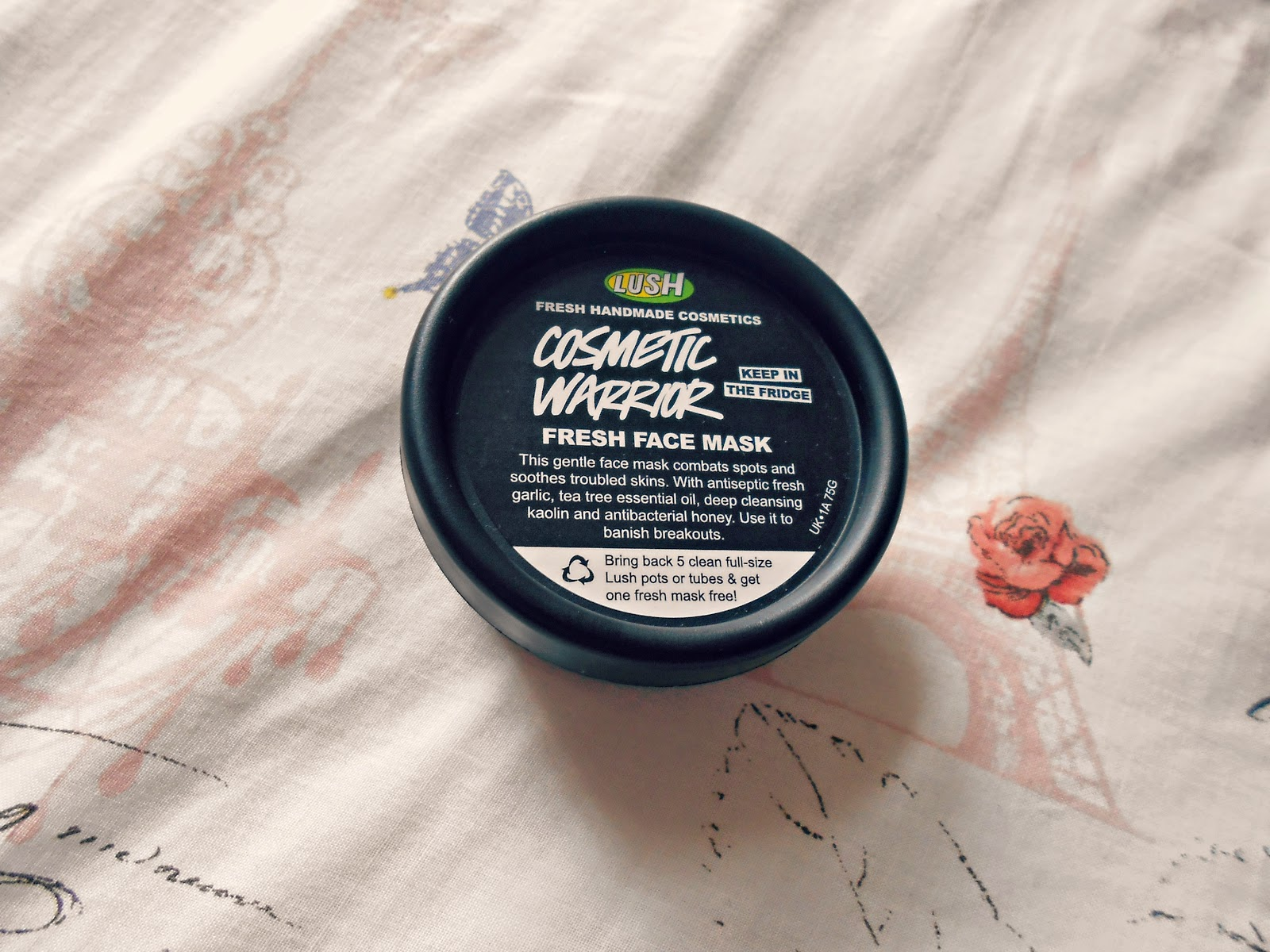 LUSH Cosmetic Warrior Face Mask Review