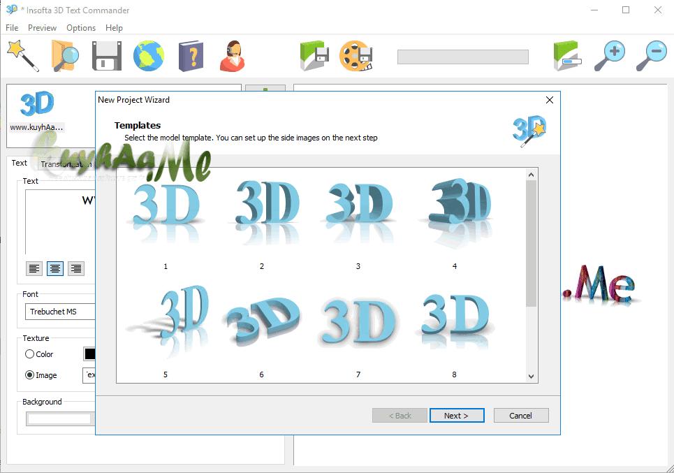 Insofta 3D Text Commander kuyhaa