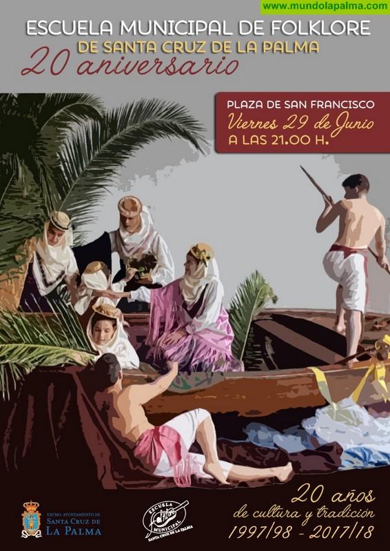 La Escuela Municipal de Folclore celebra este viernes el 20 aniversario de su fundación con una actuación en la plaza de San Francisco