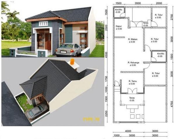 Denah Rumah Minimalis 3 Kamar Tidur Tanpa Garasi desain rumah minimalis 3 kamar tidur dan garasi aneka rupa