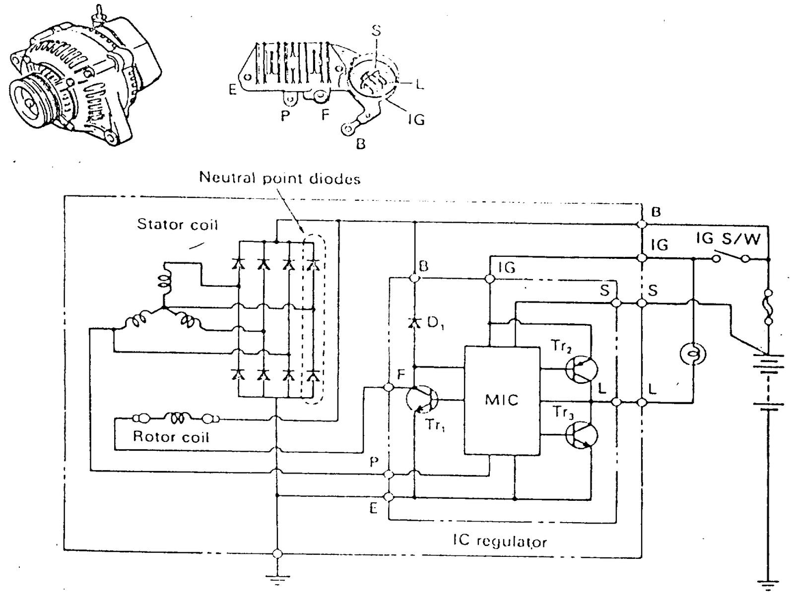 alternator ic voltage regulators alternator dengan ic regulator   best mechanic alternator voltage regulator diagram