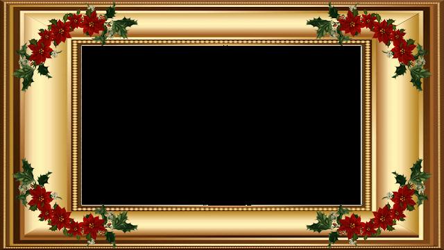 Natal -Moldura dourada 4 FHD