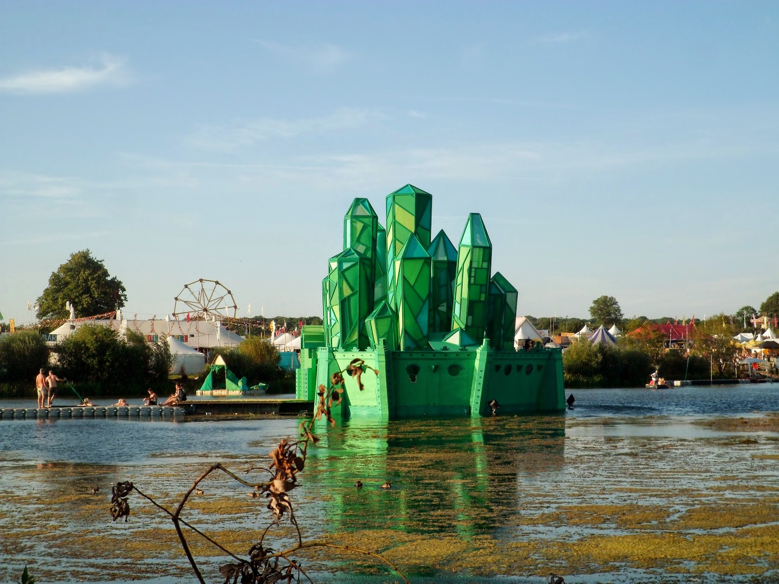 photo of the Secret Garden Party lake stage 2014