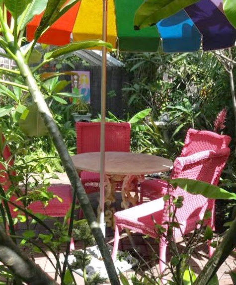 Tropical Pink Garden Chairs