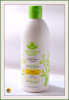 Review of Nature's Gate Jojoba & Sacred Lotus Revitalizing Shampoo for dry, fine, damaged hairon NBAM blog