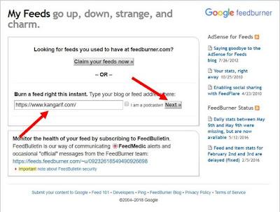 Mendaftar feedburner merupakan salah satu cara yang direkomendasikan untuk mengoptimasi blog anda. Mengapa demikian? Karena… Dengan terdaftarnya blog anda ke feedburner, maka akan mempermudah blog tersebut untuk lebih cepat terindex oleh google. Lalu bagaimana Cara Mendaftar Feedburner ? Langsung saja simak langkah-langkah dan penjelasan Kang Arif dibawah ini.