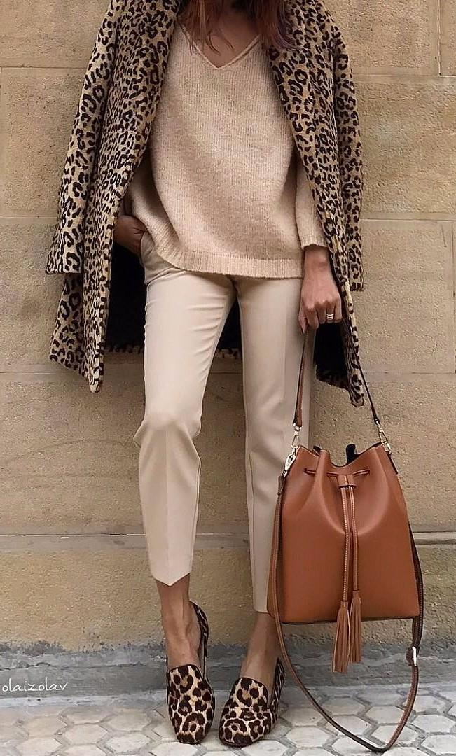 Beige + Leopard + Camel  | ootd