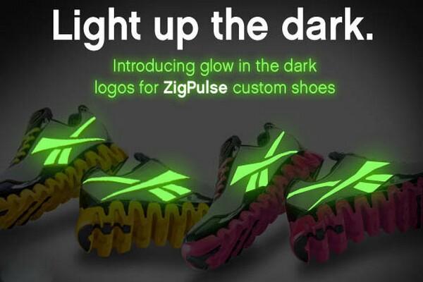 glow in the dark Reebok shoes