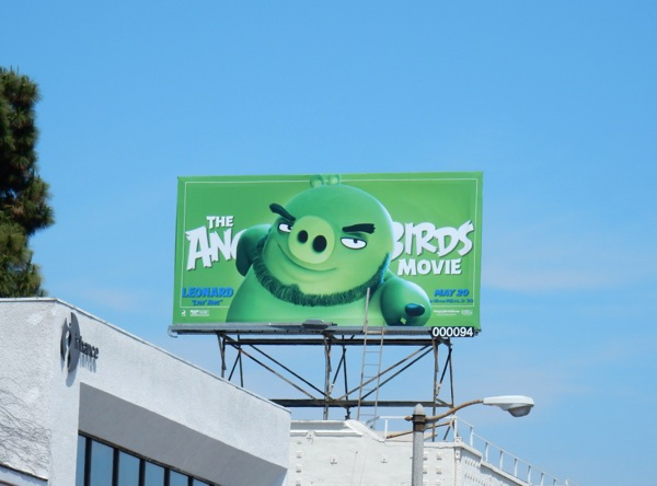 Angry Birds Green Pig Leonard billboard
