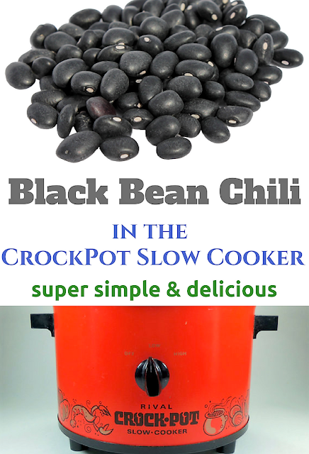 Simple Black Bean Chili recipe using pantry staples. Use what you already have in the house to make this classic crockpot slow cooker recipe that is also naturally gluten free! Low in calories and low in carbs.