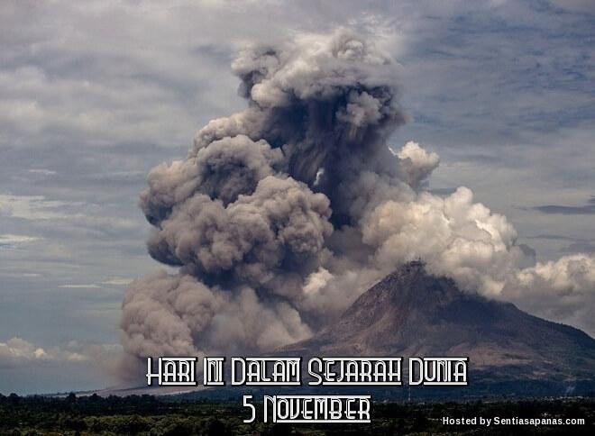Peristiwa Penting Hari Ini Dalam Sejarah Dunia (5 November)