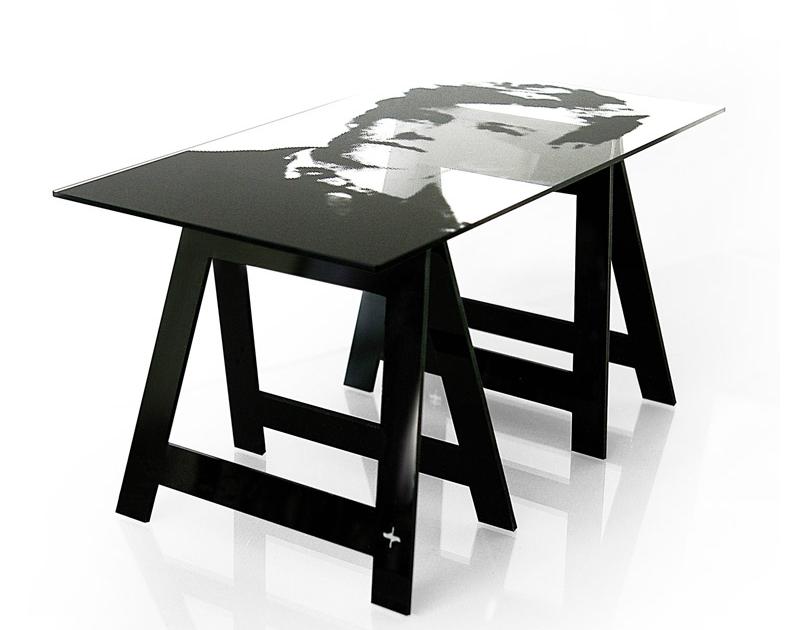 acrylic trestle table