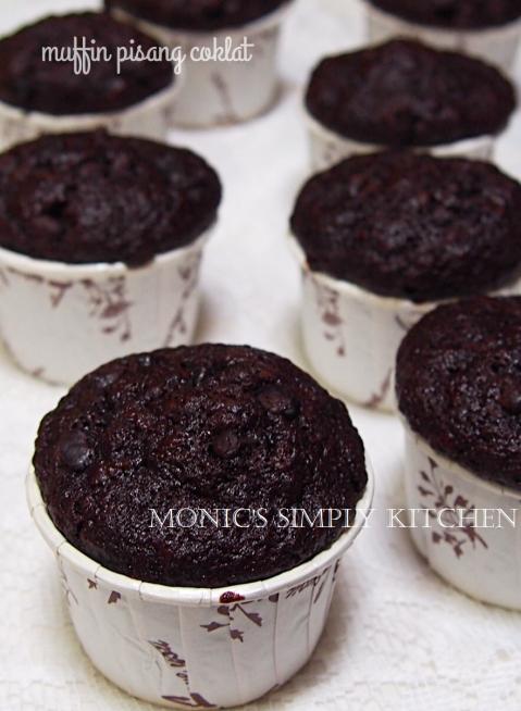 resep muffin pisang coklat