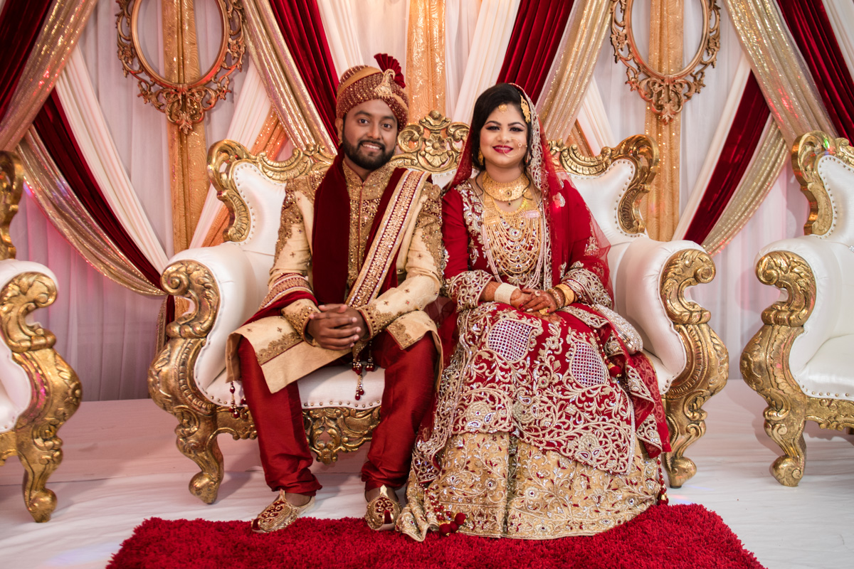 Typical Indian Couple On Their Big Day.