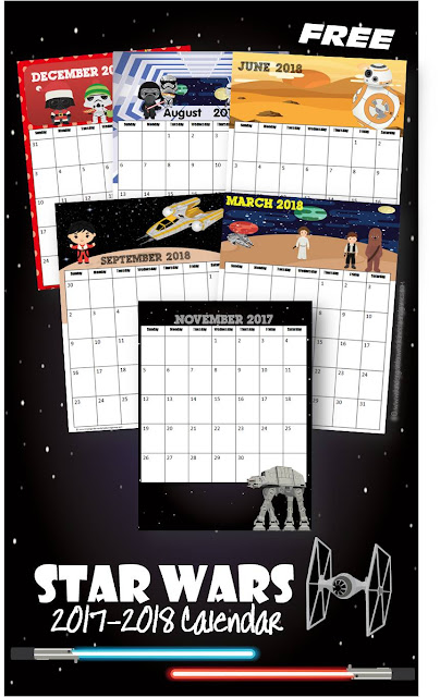 FREE Star Wars Printable Calendar - this is such a fun way for kids to keep track of upcoming events, school assignments or simply to learn the days of the week, months, and years (preschool, kindergarten, first grade, homeschool)