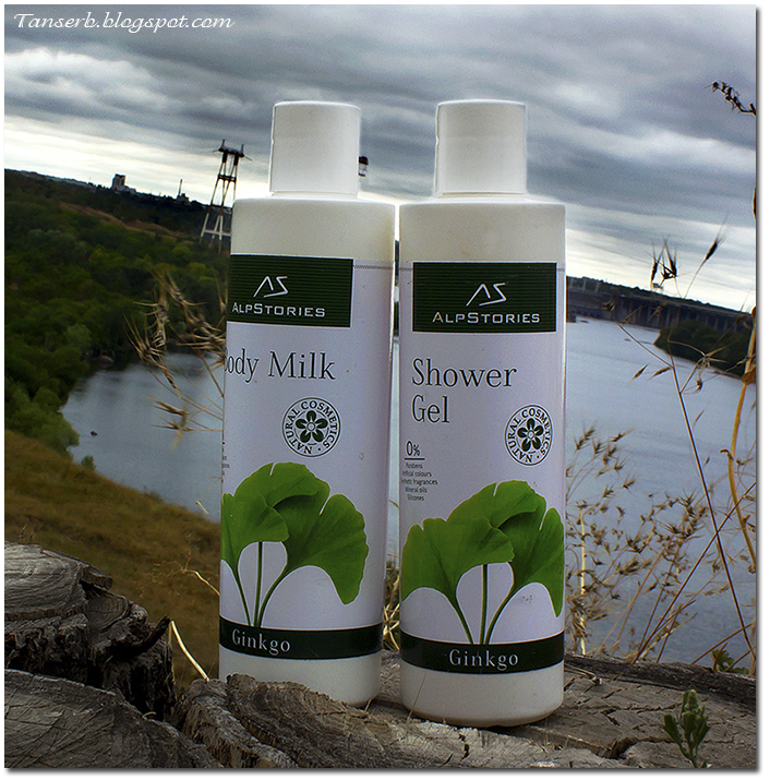 AlpStories Shower gel Ginkgo & Body milk Ginkgo
