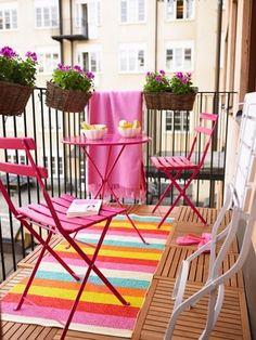 Telas para decorar terrazas