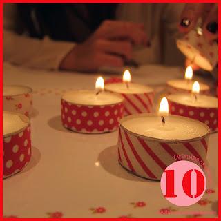 CALENDARIO DE ADVIENTO 2013. DIA 10: A la luz de las velas...