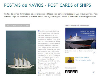 Post cards of ships for sale / Postais de Navios para venda