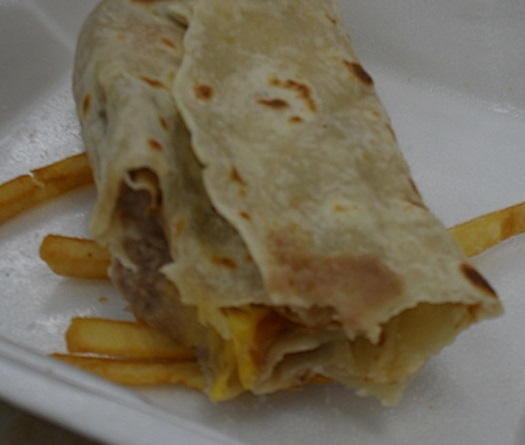 Alerto's Mexican Food, California, bean and cheese burrito