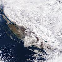 snijeg saltelit NASA slike otok Brač Online