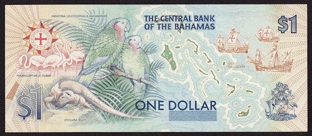 Bahamas One Dollar Commemorative Bank Note 1992