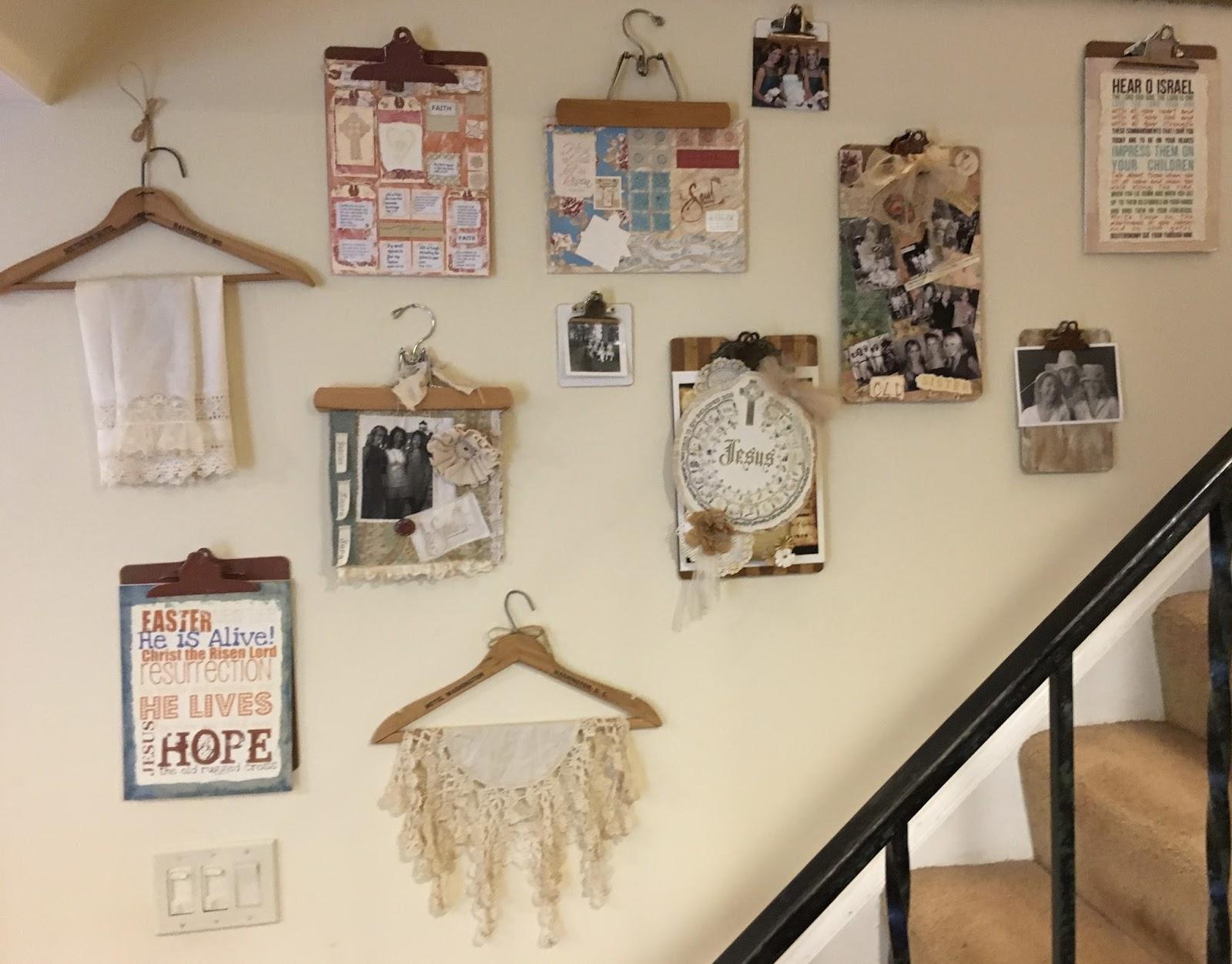 Vintage Grace: Stairway Gallery Wall